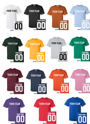 CUSTOM T-Shirt JERSEY Personalized ANY COLOR Name Number Team Softball Football](Football Jersey Personalized)