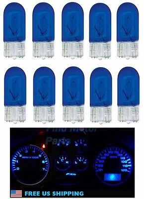 10X 194 Blue T10 Bright Light Bulbs Wedge Car Mini 5050 W5w 2825 158 192 168 Lot