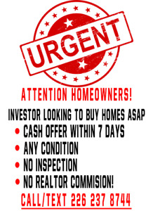 LOCAL INVESTOR LOOKING TO BUY YOUR HOME! CASH IN HAND $$$