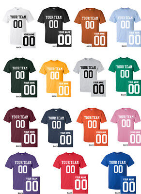 CUSTOM CLASSIC T-Shirt JERSEY Personalized Name Number Football Softball S-5XL](Football Jersey Personalized)