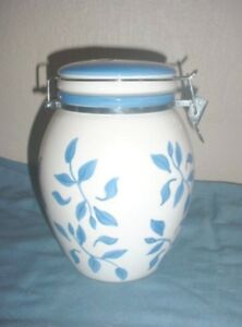 Inspirado Stonelite Blue and White Canister or Cookie Jar
