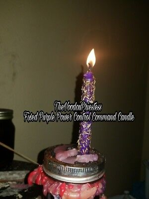 FIXED Purple Power Control Commanding  Candle Magic Spells Voodoo Wicca Pagan