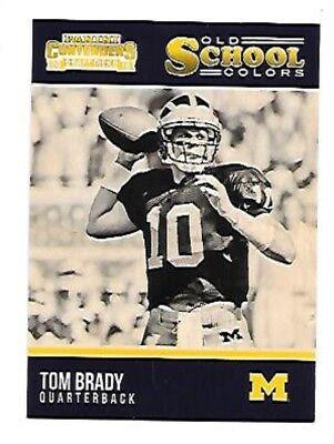 Tom Brady 2016 Contenders Old School Colors  25 New England Patriots