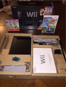 Wii version noire avec deux jeux