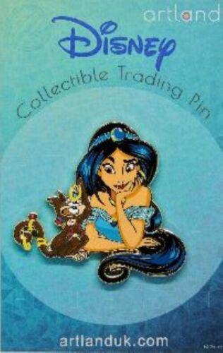 Disney UK Artland JASMINE & ABU Pin LE250 PRINCESS & FRIENDS Series ALADDIN