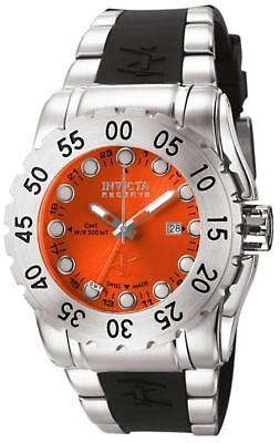 Invicta 6649 Reserve Leviathan Swiss Made GMT Date Orange Accents Mens Watch