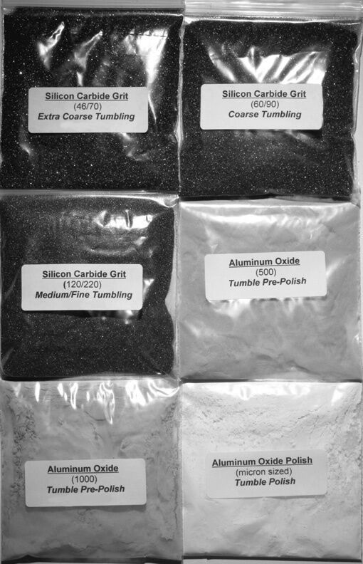 Купить Rock Tumbling Grit Super Kit 6 Pack for Hard or Soft Stones Using a 3lb Tumbler