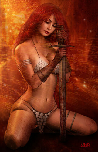 Nathan Szerdy Exclusive Red Sonja Age of Chaos! #1 Virgin Variant Cover Art