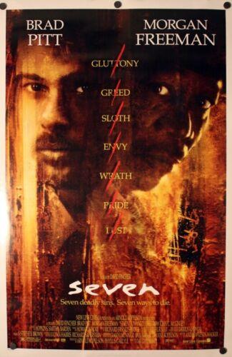 Seven - original DS movie poster - 27x40 D/S - Brad Pitt - Se7en  FINAL- 1995