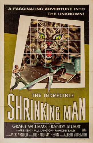 INCREDIBLE SHRINKING MAN, THE (1957) One sheet poster art by Reynold Brown