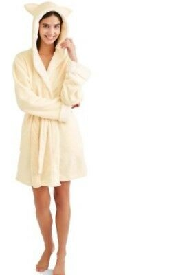 (NEW Body Candy Ladies Huggable Luxe Critter Sleepwear Robe Eggnog Size XL)