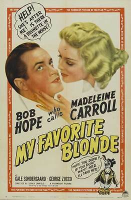MY FAVORITE BLONDE Movie POSTER 27x40 B