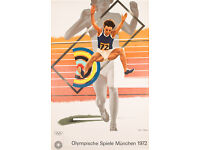 ORIGINAL OLYMPICS POSTER - PETER PHILLIPS - MUNICH OLYMPICS - c1972 (print. picture)