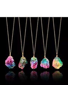 Rainbow stone pendant