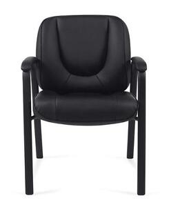 Centro - Ergonomic ,comfortable Guest Chair bonded leather in black