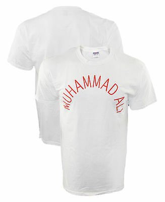 Authentic Muhammad Ali Arch Text Vintage Fight T Shirt Cassius