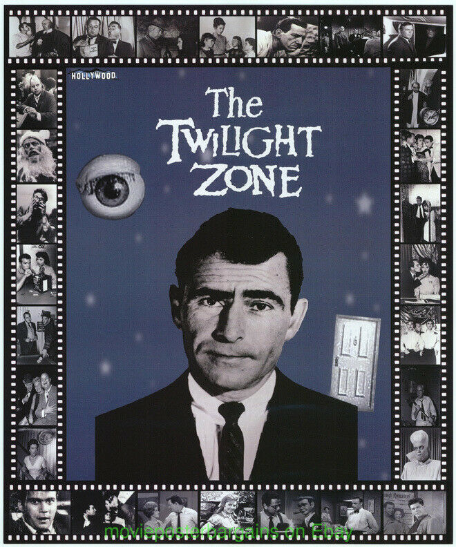 THE TWILIGHT ZONE 50TH ANN.  THE HOLLYWOOD SHOW PROMOTIONAL POSTER ROD SERLING