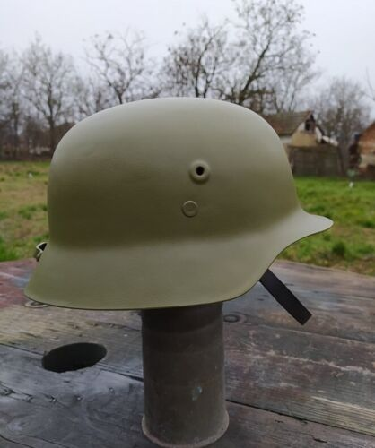 """Hungarian plastic """"steel"""" helmet WW2 NEW First Class Quality Reproduction"""