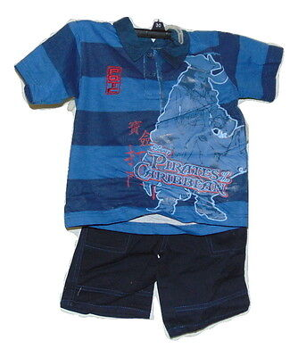 Disney Pirates Of The Caribbean Two Piece Short Outfit 5 Child New