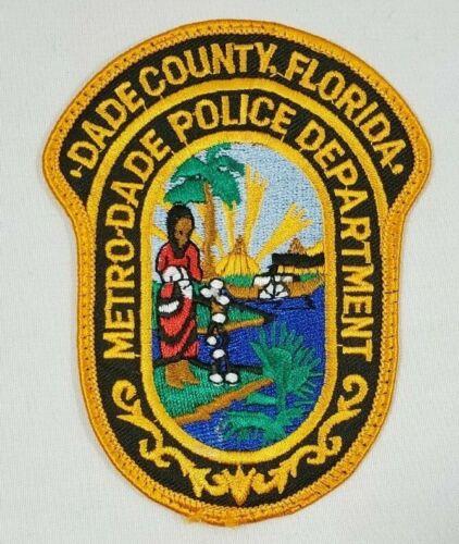 DADE COUNTY FLORIDA FL METRO-DADE POLICE DEPARTMENT POLICE SHOULDER PATCH