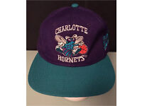 Cap 'CHARLOTTE HORNETS' NBA SPORTS Snapback All Detailed Stitching One Off Green Lilac