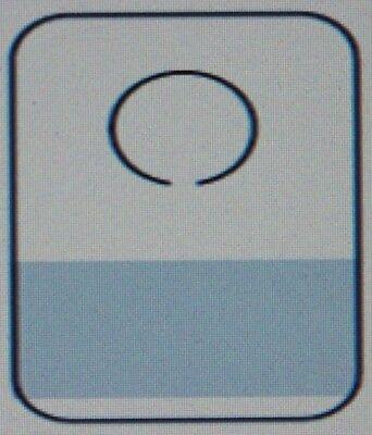 "100 Plastic Self Adhesive Hole Hang Tab Tag Hanger 8 OZ Limit Paper Thin .003"""
