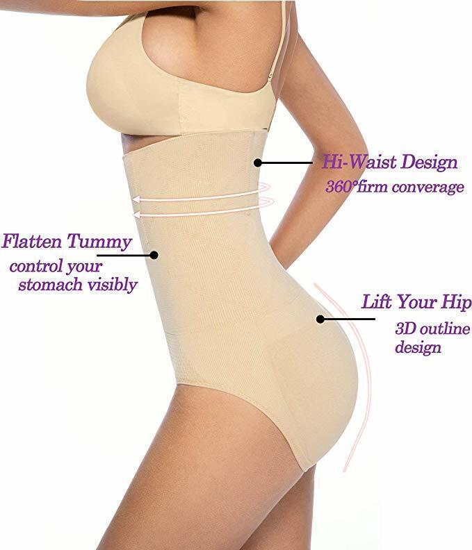 Shaperin Mujer Braguitas Moldeadoras Cintura Alta Compresion Controlar Bragas Pantalones Fajas Braguitas Moldeadoras Ropa
