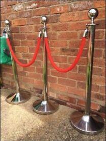 VIP entrance chrome poles & posts