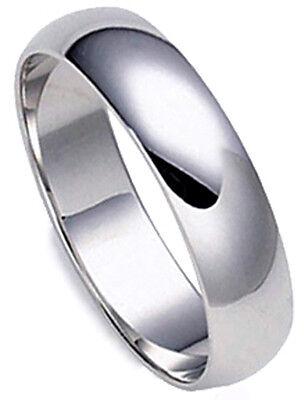 - 5 mm PLATINUM Plain Polished Dome Men Wedding Band Ring 1.14 mm thick Sizes 8-12