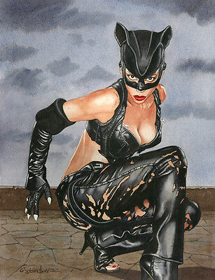 CATWOMAN HALLE BERRY ART PRINT
