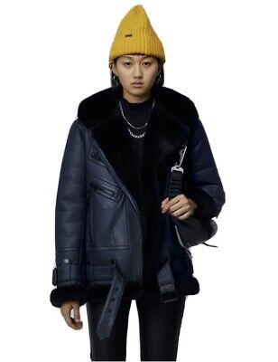 The Arrivals Moya IV Shearling Coat Jacket Biker S Leather Velocite Urban Boho
