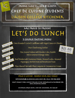 Lunch - 3 Course Tasting Menus - Upcoming