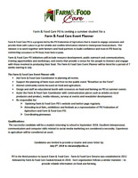 Farm & Food Care Event Planner - Summer Student Position