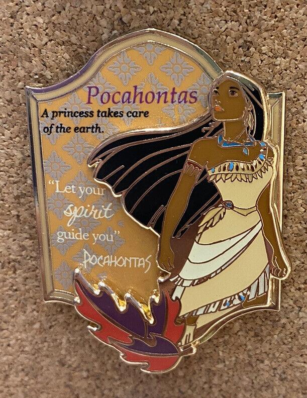 HKDL Hong Kong Disney Pin 2021 Princess Pocahontas Pin W/ postcard