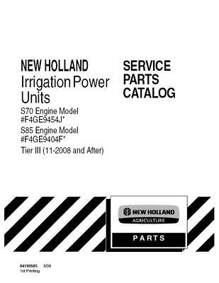New Holland S70s85 Irrigation Power Unit Tier 3 11-2008- After Parts Catalog