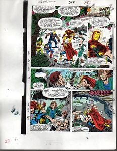 Marvel-Avengers-327-color-guide-art-page-Thor-Iron-Man-Captain-America-She-Hulk