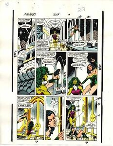1989-Avengers-309-page-22-original-Marvel-Comics-color-guide-art-She-Hulk-Sersi