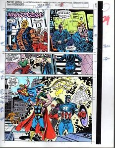 Original-Thor-Captain-America-Spider-man-Avengers-Marvel-Comics-color-guide-art
