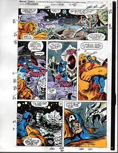 1991-Original-Marvel-Comics-Avengers-328-color-guide-art-page-8-Captain-America