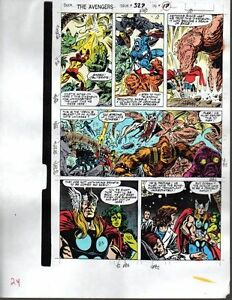 1990-Marvel-Avengers-color-guide-art-page-Thor-Iron-Man-Captain-America-She-Hulk
