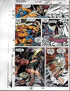 1991-Marvel-Comics-Avengers-328-color-guide-art-page-9-Captain-America-Iron-Man