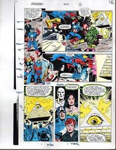 1991-Avengers-Marvel-color-guide-art-She-Hulk-Black-Widow-Thor-Captain-America
