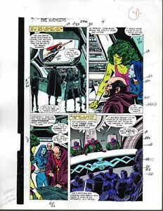 1988-Buscema-Avengers-296-Marvel-original-color-guide-art-page-4-She-Hulk-Thor