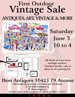 Vintage Outdoor Market June 3 in Old Strathcona