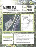 Land for sale-two ideal building lots in Thurlow-Private sale