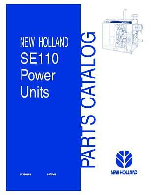 New Holland Se110 Irrigation Power Unit Parts Catalog