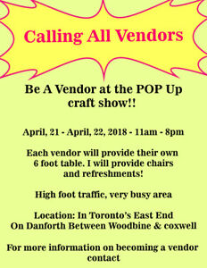 Vendors WANTED!!!!!!!!!!
