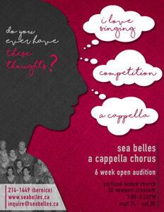 Sea Belles Chorus Seeking Women Vocalists