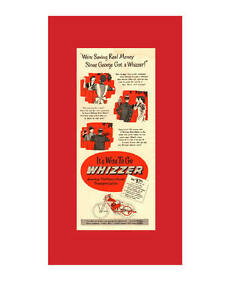 1948 half-page, Whizzer motorcycle engine print ad