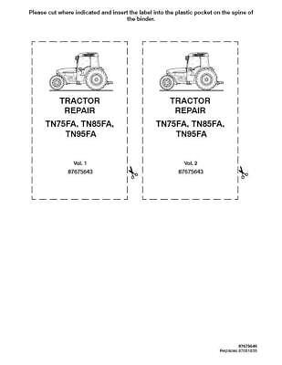 New Holland Tn75fatn85fatn95fa Tractor Service Manual